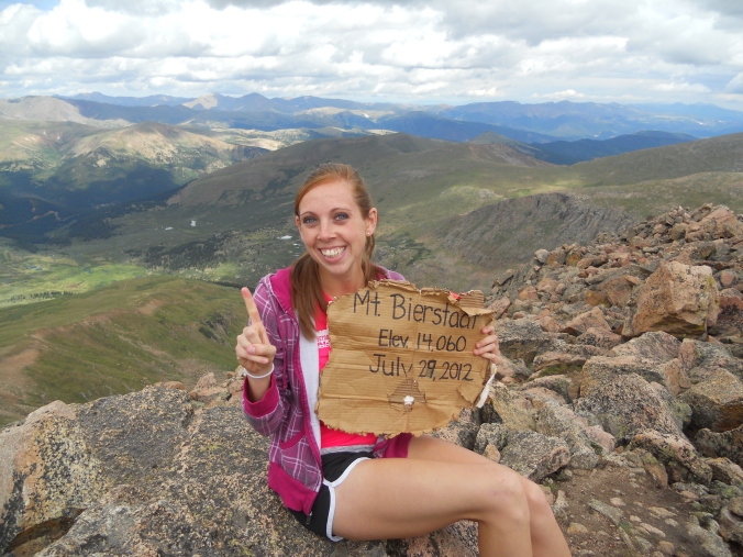 My first fourteener!!!!