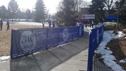 Looking down the at the finish line
