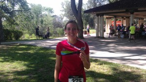 And my medal. It may not have been a good race, but I still earned that medal!