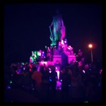 The Fountain!  (Blurry Picture, sorry)