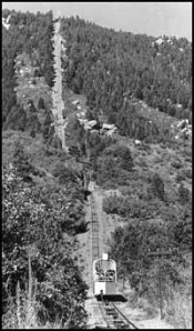 The old, working, Manitou Incline Cog. Photo found on: http://www.manitouincline.net/main.htm