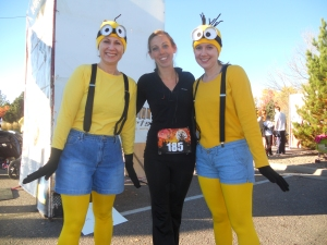 Costumes AND Jeans!!! These ladies were very nice and had super cute costumes. (They even made some minion noises).