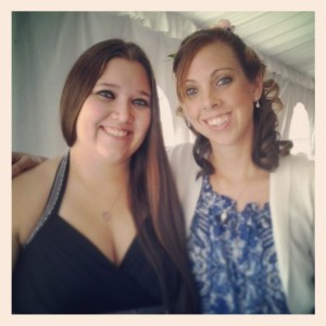 My best friend and I...we've known each other since we were 3 years old! And she did the wedding parties' hair!