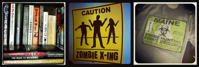 A few things in my zombie collection..posters, books, t-shirts...and much more!