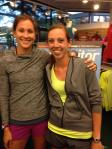Olympian, Kara Goucher and myself