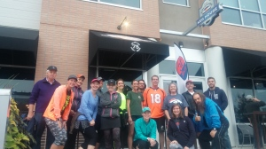 A group from the Brew Tour run club I organized in 2015!