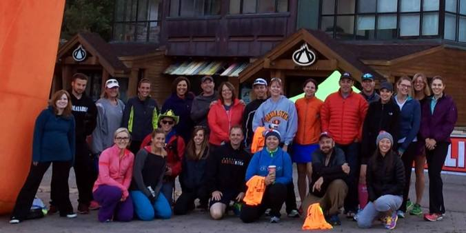 Both 3W Teams before either of us started! We're all bundled - chilly mountain air!