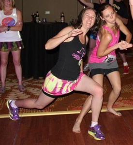 Yes, this is Lisa and I at the Skirt Chaser. Not the most flattering picture, but super hilarious!