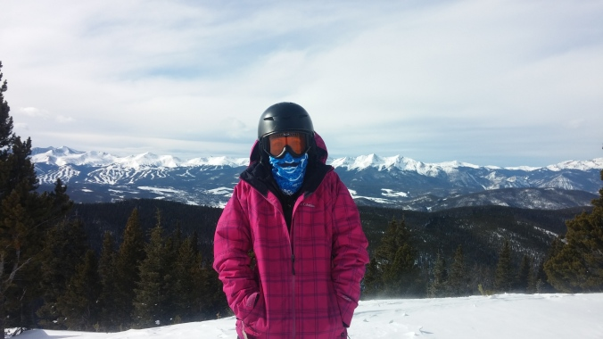 This is what you're supposed to do with the snow-muff..I took it snowboarding!