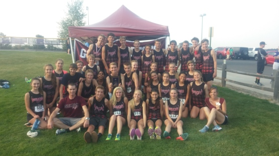 The smiling faces of the Golden HS Cross Country Team!