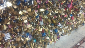 Lots of locks on bridges...
