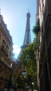 I came around a corner and BOOM! Eiffel tower!