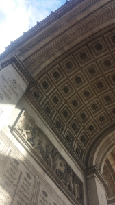 On the underside of the Arc.