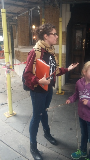 Our Muggle Tour Guide, Grettle Granger, she called herself.