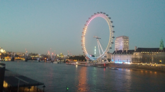 London is beautiful at night!