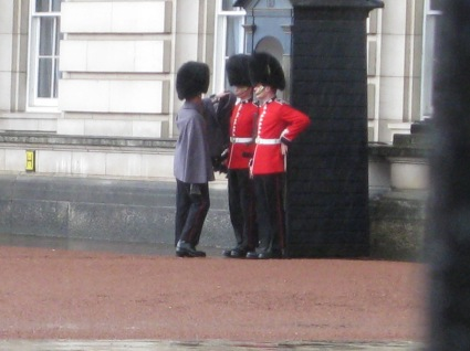 Saw the Buckingham Palace and the changing of the guards