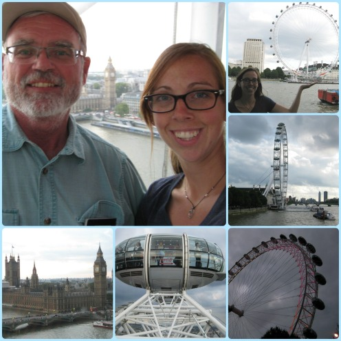 And lastly on Day one, we saw, and rode, the London Eye! So fun and fantastic views!
