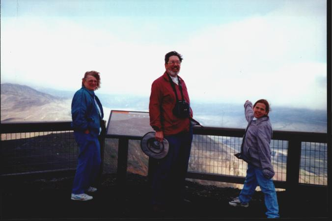 Visiting my grandparents as a kid. That's at Mount Saint Helens