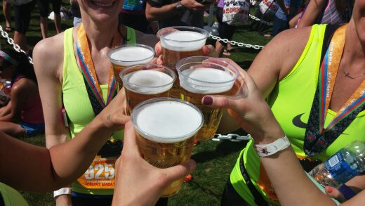 Celebrating after the 2015 Race!