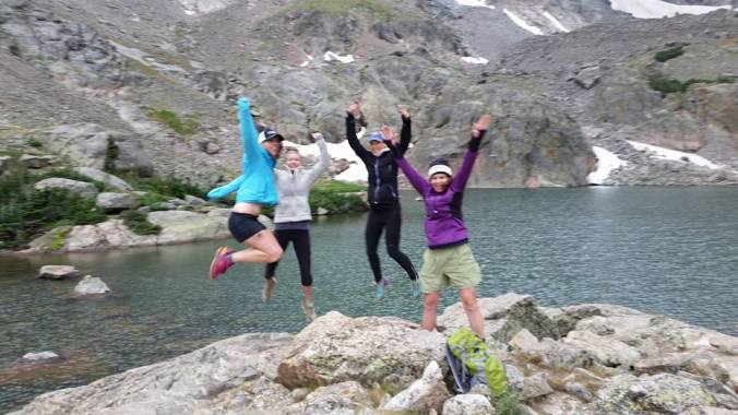 Rocky Mountain National Park...check out that air I got! I'm on the left! Photo credit to Katja again!