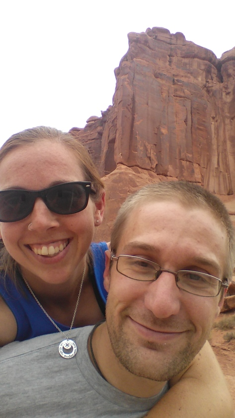Exploring in Arches National Park
