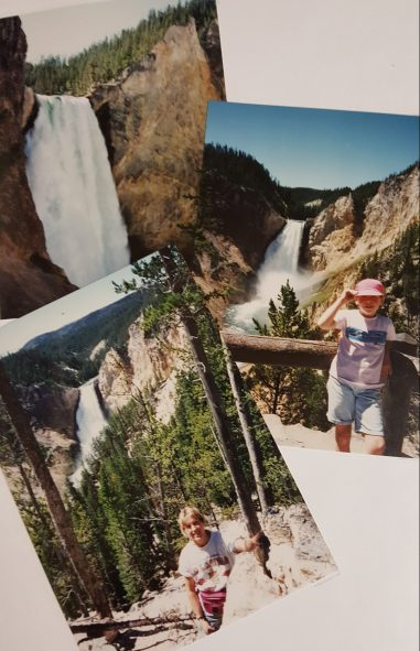 Picture from my scrapbook...Yellowstone National Park with my Mom.