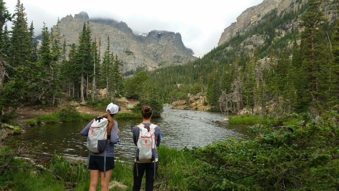 Hiking to Sky Pond in Rocky Mountain National Park. Photo Credit: my friend Katja