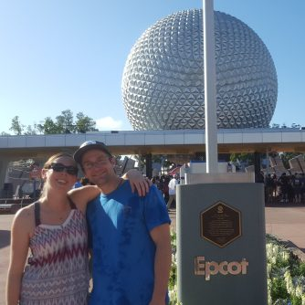 Epcot, the most pregnant-lady-friendly park at Disney